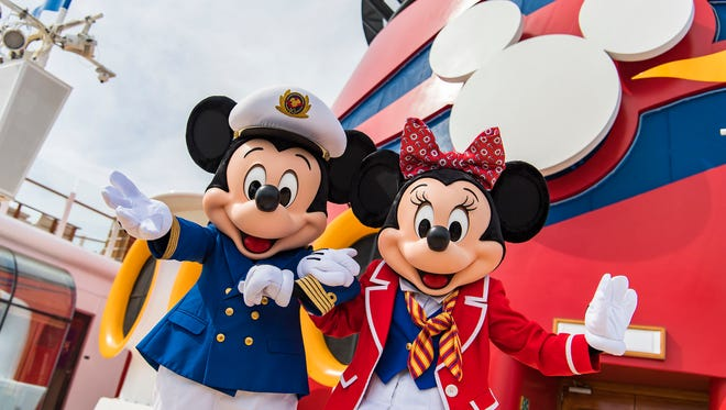 Captain Mickey and First Mate Minnie aboard the revamped Disney Wonder.