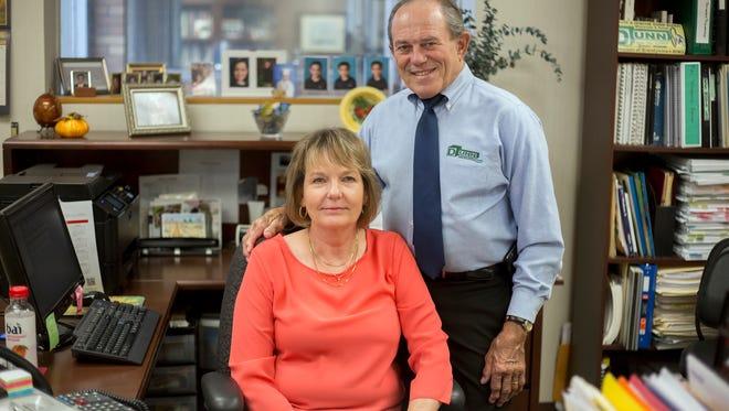 Toni and Tom Dunn, owners of Dunn Electrics on Robinson Street in Binghamton.