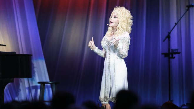 Dolly Parton performs at the American Bank Center on Friday, Dec.2, 2016.
