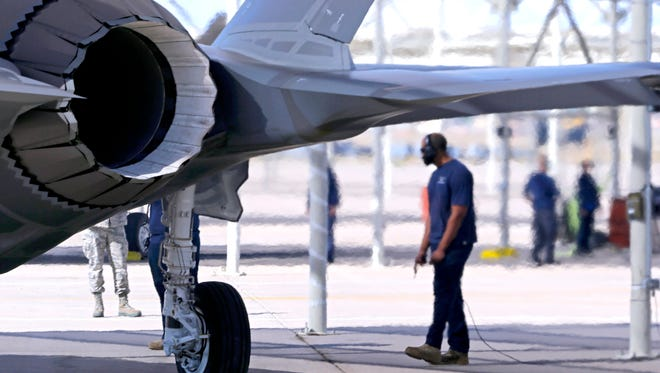 The first two Norwegian Air Force F-35 stealth fighter jets arrive Tuesday, Nov. 10, 2015 at Luke Air Force Base in Glendale.
