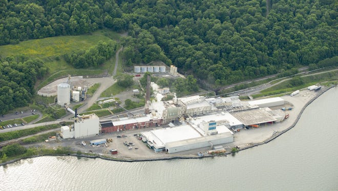 The U.S. Salt mine complex, right, sits on the shore of Seneca Lake, in the town of Reading. Crestwood, which owns U.S. Salt, is proposing to store liquid propane gas in nearby caverns created from the salt mining.
