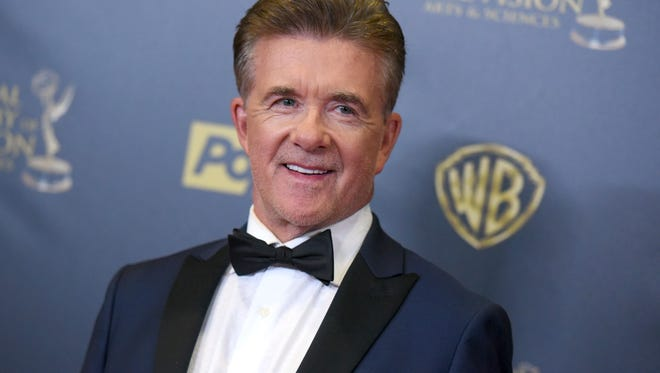 In this Sunday, April 26, 2015, photo, Alan Thicke poses in the pressroom at the 42nd annual Daytime Emmy Awards at Warner Bros. Studios in Burbank, Calif.