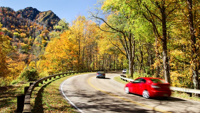 Newfound Gap Road in Great Smokey Mountains National Park.