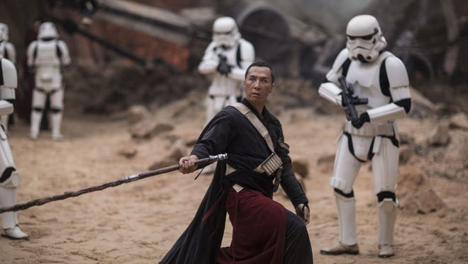 """Donnie Yen as Chirrut Imwe in the film """"Rogue One: A Star Wars Story."""""""