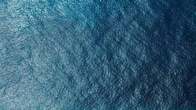 Sea surface aerial view.