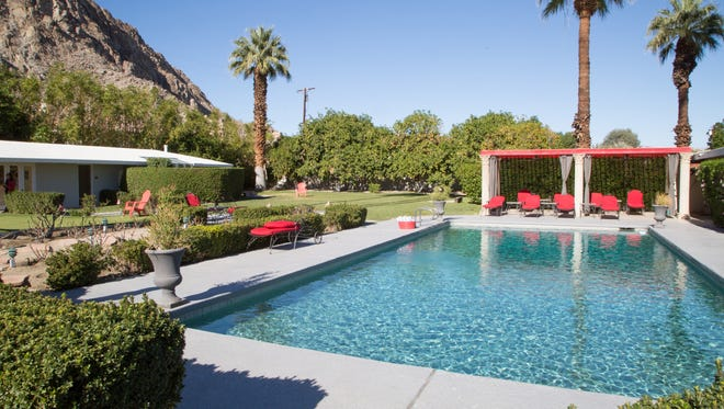 FILE - A vacation rental home in the Palm Springs area.