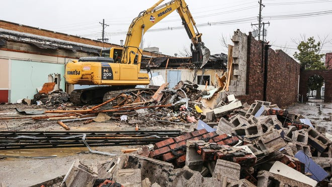 Demolition began on Wednesday of the administration building at The Healing Place.  The treatment facility is undergoing a complete transformation of its facility on Market Street.January 11, 2017