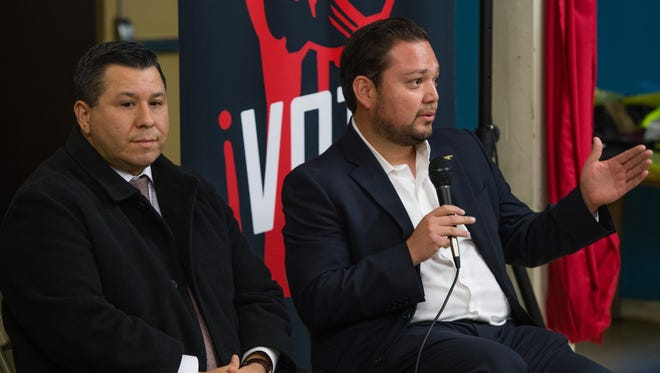 Assemblymember Eduardo Garcia and Mayor Steve Hernandez speak about how to keep the immigrant community safe under the Trump administration, Friday, Jan. 20. 2017.