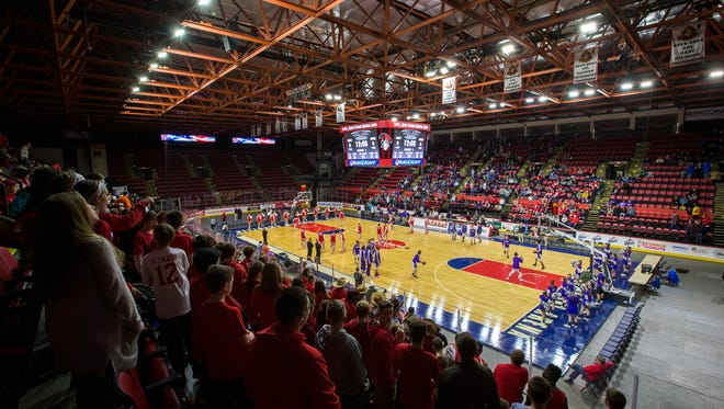 Floyd L. Maines Veterans Memorial Arena in Binghamton will host the boys basketball state championships Friday through Sunday.