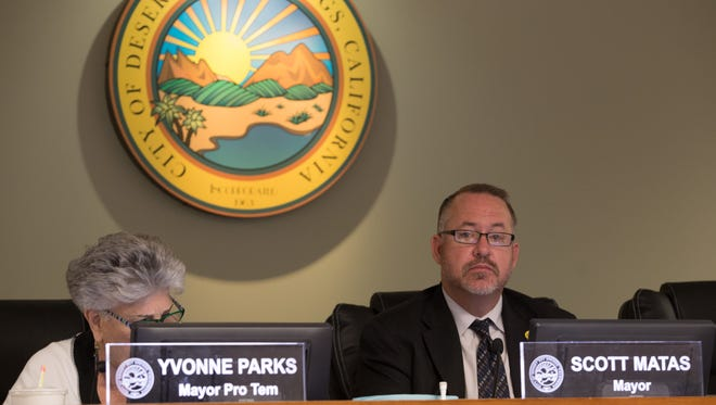 The Desert Hot Springs city council meets on Tuesday, March 21, 2017.
