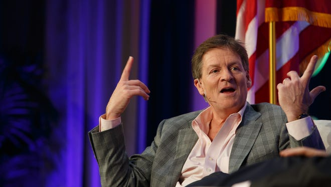 Michael Lewis speaks with Brian Harnick in a Q&A style Desert Town Hall, Monday, March 27, 2017.