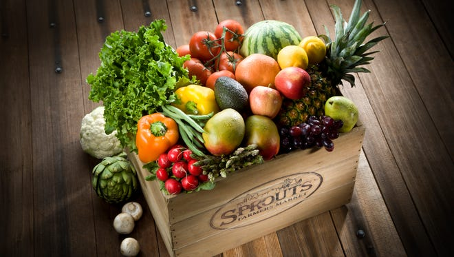 A box of produce from Sprouts Farmers Market.