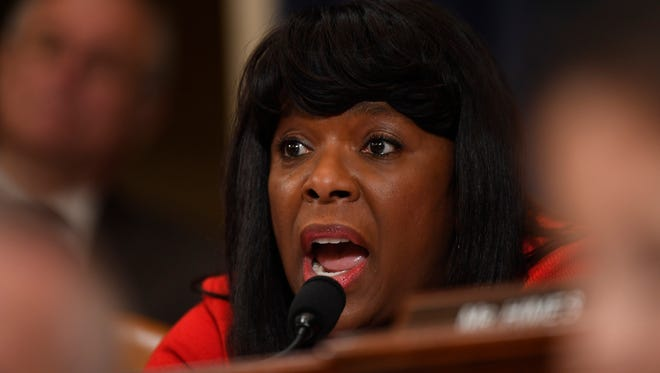 Rep. Terri Sewell, D-Ala., speaks during The House Intelligence Committee public hearing last month on the investigation into alleged Russian interference in the 2016 election.