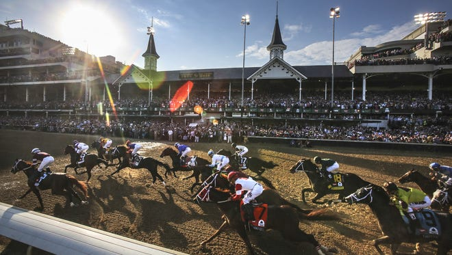 The first pass at the Kentucky Derby. May 7, 2016