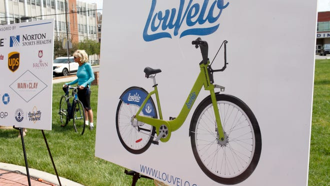 A press conference was held to unveil the city's new bike share program. LouVelo will feature 305 bikes located at 28 stations throughout Louisville, one of which is located on the Spalding campus. The bikes are available for rent and returnable to any of the docking stations.  April 14, 2017