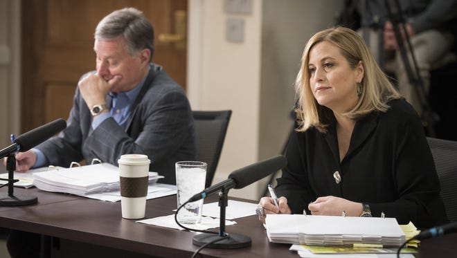 In this file photo, Mayor Megan Barry and Chief Operating Officer Rich Riebeling participate in a budget hearing.