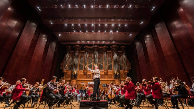 John Morris Russell and the Pops rehearse at the National Concert Hall in Taipei on March 26.