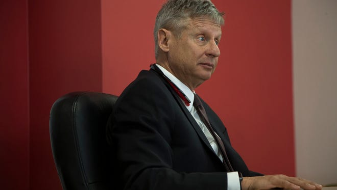 Libertarian Gary Johnson was his party's presidential candidate last fall.