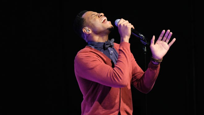 "Chris Blue sings in ""The Voice"" Top 12 Toyota Performance."