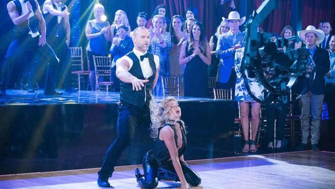 David Ross and dance partner Lindsay Arnold perform on ABC's 'Dancing With the Stars.' The live version of the hit TV show comes to Fresno this summer.