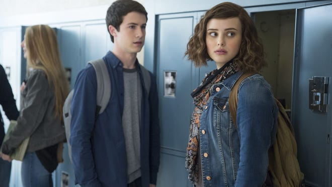 Clay (Dylan Minnette) and Hannah (Katherine Langford) in '13 Reasons Why.'