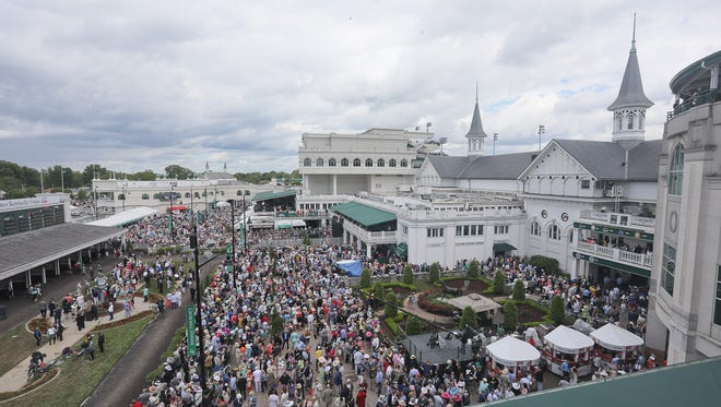 Scene during Derby Day at Churchill Downs in Louisville, KY. May 5, 2017