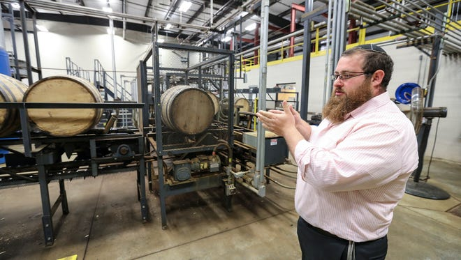 Rabbi Chaim Litvin discusses how the bourbon process is kosher through the distilling process and when it is stored in the barrels.  Litvin is hired by distilleries and other companies to make sure that their products are following kosher guidelines.  On this day he is at Heaven Hill Distillery in Bardstown.