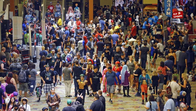 A large crowd packed the Phoenix Convention Center for Phoenix Comicon Saturday, June 4, 2016 in Phoenix, Ariz.