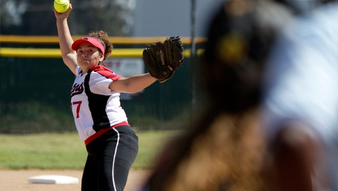 Star pitcher Alicia Estrada will be in the circle when Rio Mesa hosts Agoura in the first round of the Division 2 softball playoffs.