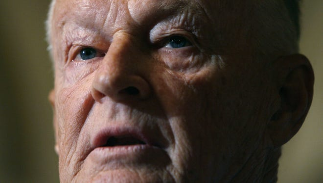 President Carter's former National Security Advisor, Zbigniew Brzezinski, is pictured speaking during at a news conference at the U.S. Capitol in 2006.