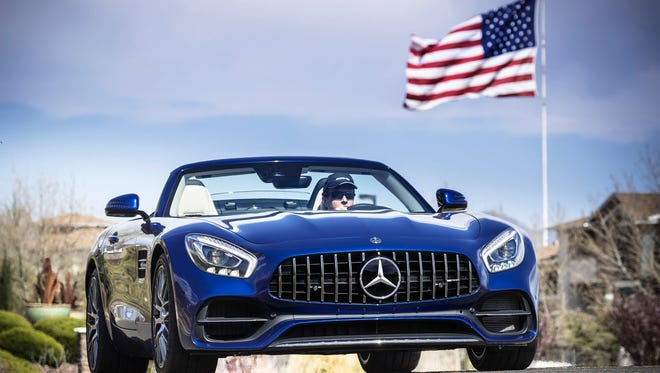 The 2018 Mercedes-AMG GT Roadster, the latest variant of the stunning Mercedes-AMG GT sports coupe, which debuted in September 2014. (Mercedes-Benz)