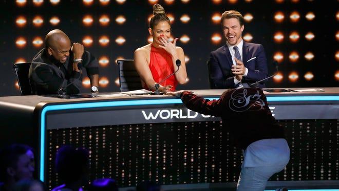 The judges enjoying themselves on 'World of Dance.'
