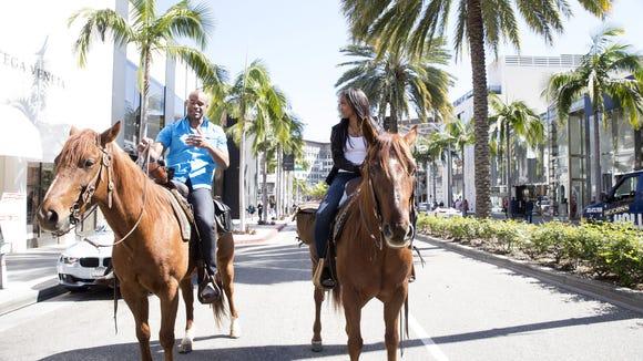 Rachel and Anthony go on a shopping trip -- on horseback