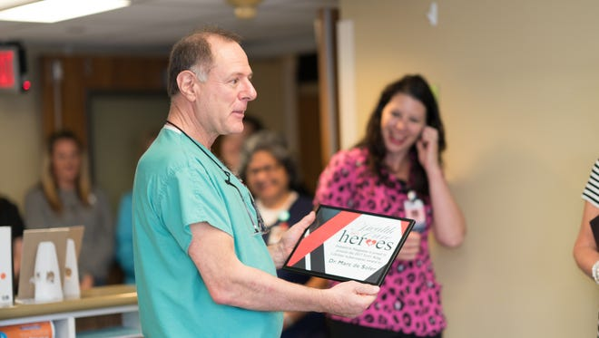 DeltaStyle surprised Dr. de Soler with the news of his award