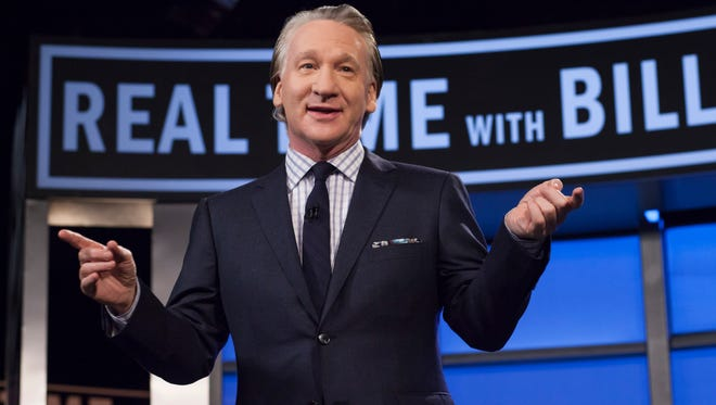 "Bill Maher, host of ""Real Time with Bill Maher,"" is pictured during a broadcast of his show in Los Angeles."