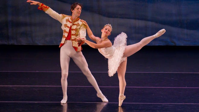 "Vero Classical Ballet is known for its annual performance of ""The Nutcracker."" In this file photo, Barry Trammell and Alexandra Schulke portray the Prince and Snow Queen."