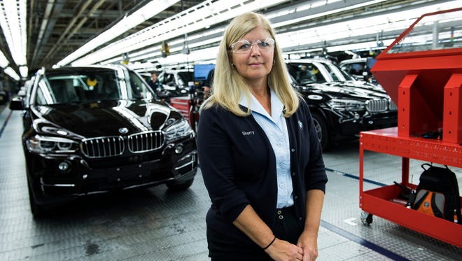 Sherry McCraw, CFO for BMWÕs South Carolina plant, poses for a portrait inside the Spartanburg manufacturing facility on Tuesday, June 13, 2017.