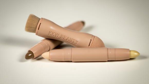 Kim Kardashian's KKW Beauty contour kit, in the light