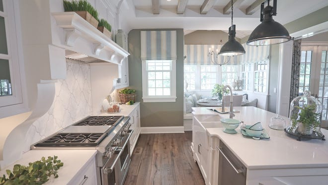 """The kitchen at the home of Paloma and George Thacker in Goshen, Kentucky. The house, called """"Bridgehampton,"""" is featured on the Homearama 2017 tour in the Poplar Woods neighborhood."""