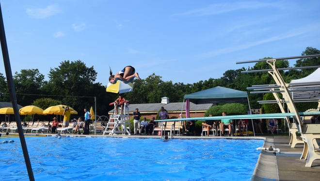 Wedgewood's Megan Tucker competes in the South Jersey Diving Association's championships on Thursday at Erlton Swim Club.