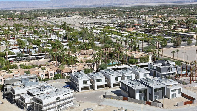 The Dakota project will have 39 single-family homes when completed. The project is at the base of the mountain on Belardo Road in south Palm Springs.