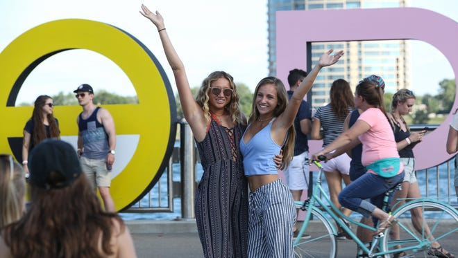 Detroit's scenic West Riverfront park hosted the 2017 Mo Pop Festival on Saturday, July 29, 2017.
