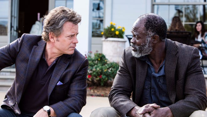 Greg Kinnear and Djimon Hounsou strike up a seemingly unlikely friendship in 'Same Kind of Different as Me.'
