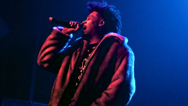 Detroit-based progressive hip-hop artist Danny Brown headlined the show during the Second Annual Bruiser Thanksgiving on Wednesday, November 25, 2015 at the Majestic Theatre in Detroit.