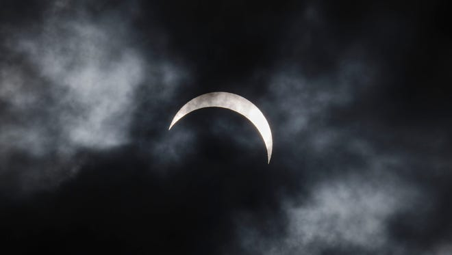 A total solar eclipse is seen from Palembang city on March 9, 2016 in Palembang, South Sumatra province, Indonesia.