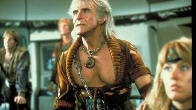 Ricardo Montalbán and his oh-so-impressive chest in 'Star Trek II: The Wrath of Khan.'