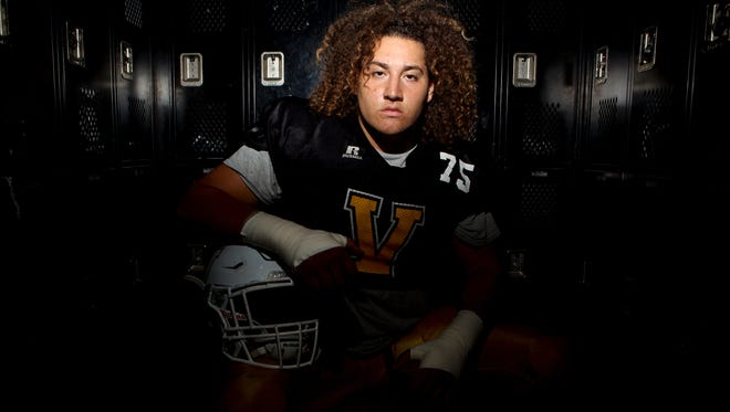 Already a star in track and field, Carlos Aviles has brought his talents to the football field as a top lineman for Ventura High.