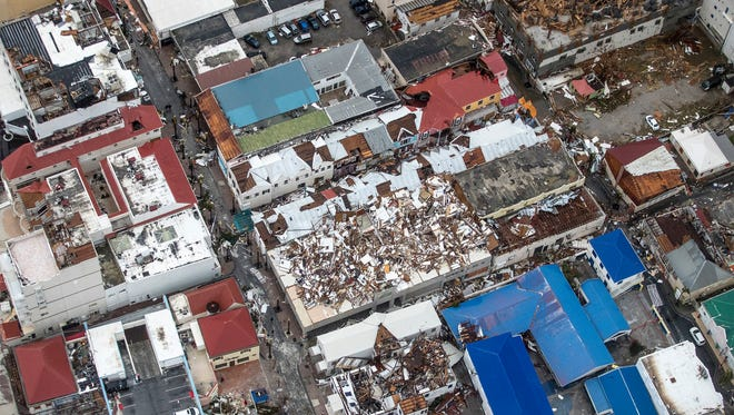 The aftermath of Hurricane Irma, in St. Maarten,  Sept. 6, 2017.