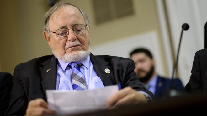 Rep. Don Young is pictured on Capitol Hill on July 12, 2017.