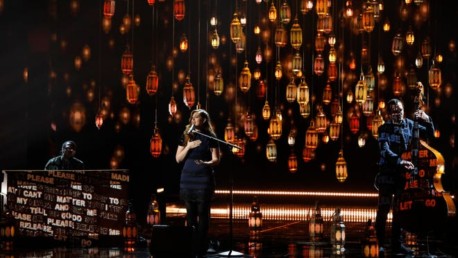 "Mandy Harvey performing on ""America's Got Talent."""